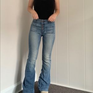 American eagle high rise bell bottoms